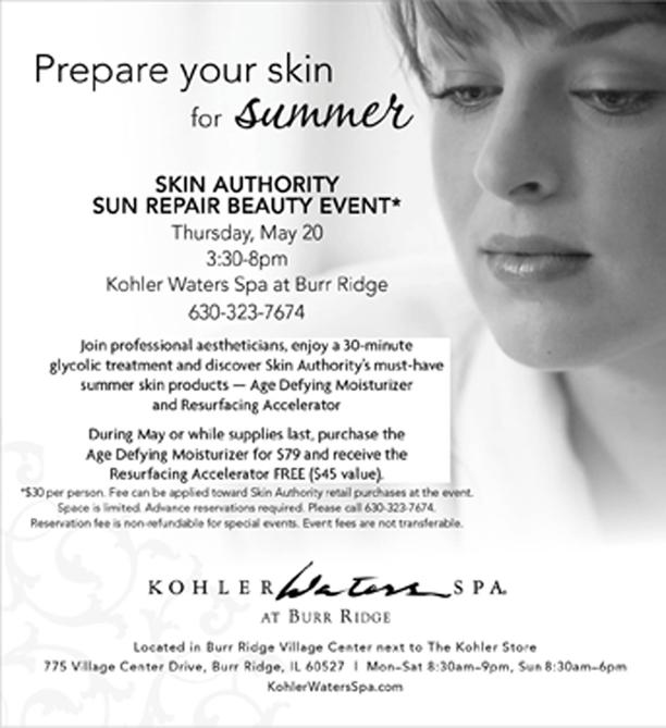 Kohler Sun Repair Beauty Event