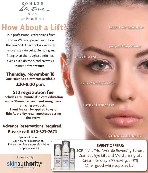 Kohler Skin Care Experience.