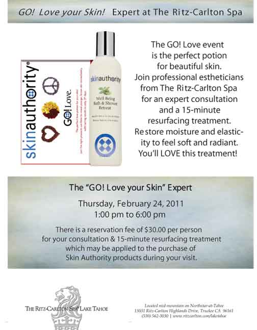 The Ritz-Carlton Lake Tahoe Go Love Your Skin Event