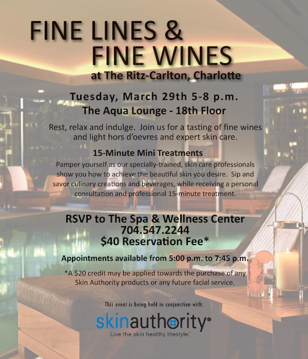 The Ritz-Carlton, Charlotte Fine Lines and Fine Wines Event